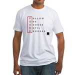 Focus Blk Men's Fitted T-Shirt
