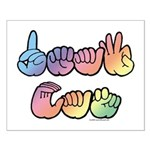 DEAF CAN Pastel Small Poster