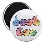 DEAF CAN Pastel Magnet