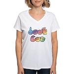 DEAF CAN Pastel Women's V-Neck T-Shirt