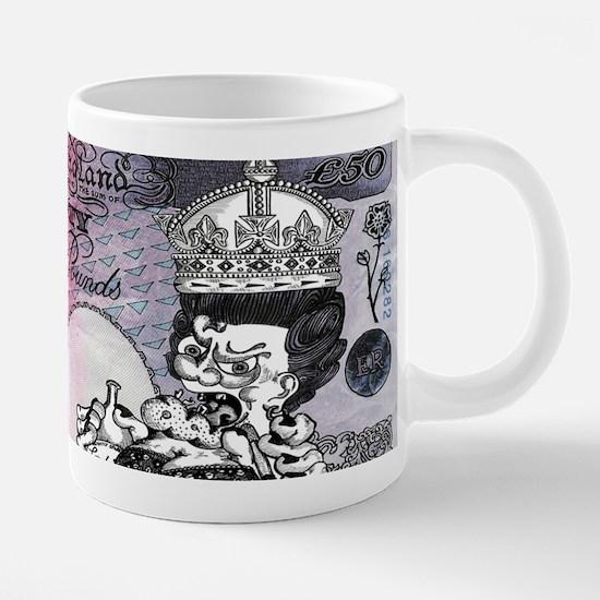 British Fifty Note Key Hang 20 oz Ceramic Mega Mug