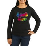DEAF CAN Rainbow Women's Long Sleeve Dark T-Shirt