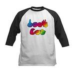 DEAF CAN Rainbow Kids Baseball Jersey