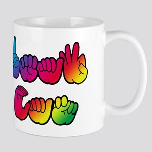 DEAF CAN Rainbow Mug