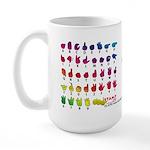DEAF CAN Rainbow Large Mug