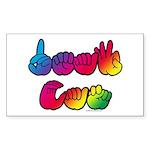 DEAF CAN Rainbow Sticker (Rectangle)