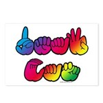 DEAF CAN Rainbow Postcards (Package of 8)