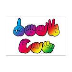 DEAF CAN Rainbow Mini Poster Print