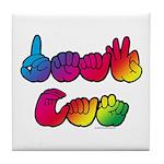 DEAF CAN Rainbow Tile Coaster