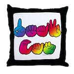 DEAF CAN Rainbow Throw Pillow
