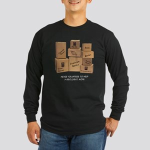 Geologist Moving Wisdom Long Sleeve Dark T-Shirt