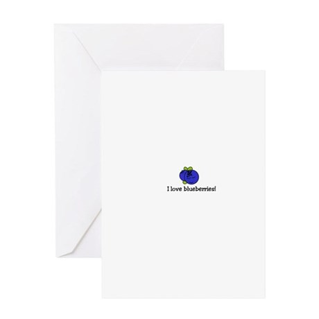 Iloveblueberries Greeting Cards