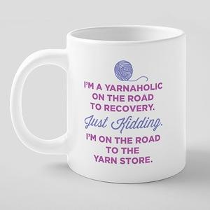 Im A Yarnaholic 20 oz Ceramic Mega Mug