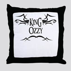 King Ozzy Throw Pillow