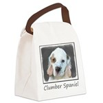 Clumber Spaniel Canvas Lunch Bag