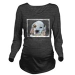 Clumber Spaniel Long Sleeve Maternity T-Shirt
