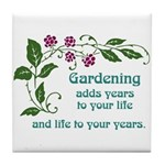 Gardening adds Years Tile Coaster