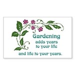 Gardening adds Years Rectangle Sticker