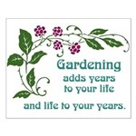 Gardening adds Years Small Poster
