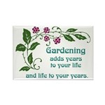 Gardening adds Years Rectangle Magnet