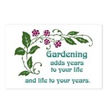 Gardening adds Years Postcards (Package of 8)