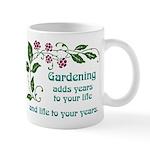 Gardening adds Years Mug