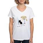 Bar Down Women's V-Neck T-Shirt