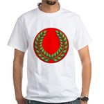Red with green laurel White T-Shirt