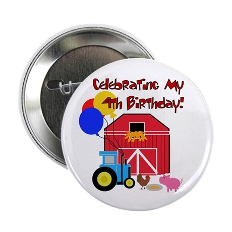 "Farm 4th Birthday 2.25"" Button (10 pack)"