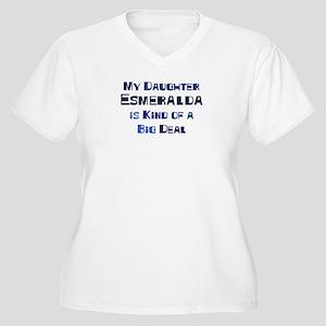 My Daughter Esmeralda Women's Plus Size V-Neck T-S