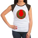 Red with green laurel Women's Cap Sleeve T-Shirt