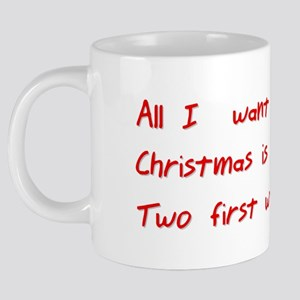 My two first words 20 oz Ceramic Mega Mug