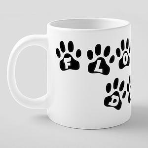 11x11pawsflowerdog.png 20 oz Ceramic Mega Mug