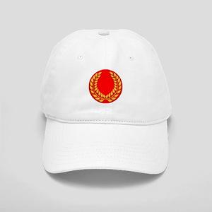 red with gold laurel Cap