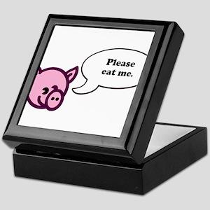 Please Eat Me - Pig Keepsake Box