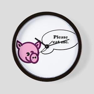 Please Eat Me - Pig Wall Clock