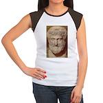 Greek Philosophers: Aristotle Women's Cap Sleeve T