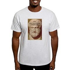 Greek Philosophers: Aristotle Ash Grey T-Shirt