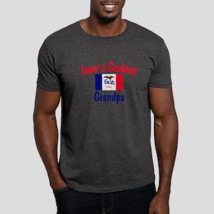 Coolest Iowa Grandpa Dark T-Shirt