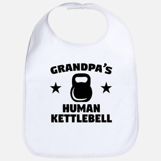 Grandpas Human Kettlebell Baby Bib