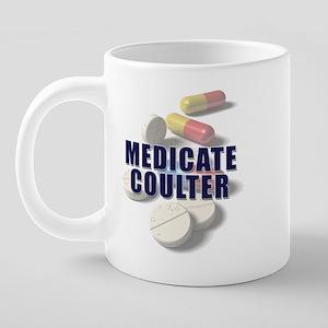 medicate-coulter-mug 20 oz Ceramic Mega Mug