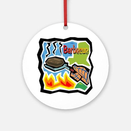 Barbecue Ornament (Round)
