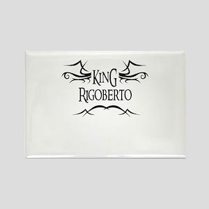 King Rigoberto Rectangle Magnet