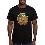 Klimt's Flower Garden Men's Fitted T-Shirt (dark)