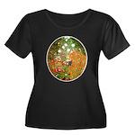 Klimt's Flower Garden Women's Plus Size Scoop Neck