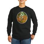 Klimt's Flower Garden Long Sleeve Dark T-Shirt