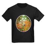 Klimt's Flower Garden Kids Dark T-Shirt