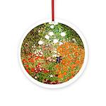 Klimt's Flower Garden Ornament (Round)
