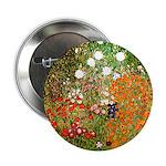 Klimt's Flower Garden Button
