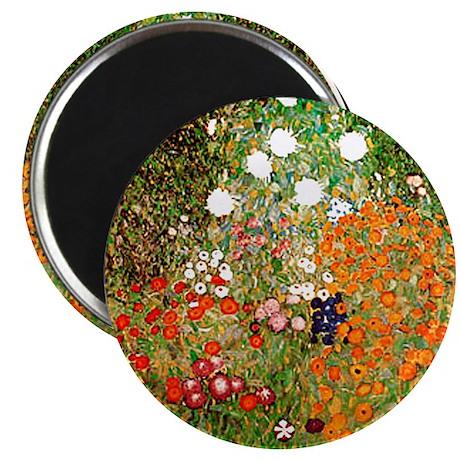 Klimt's Flower Garden Magnet